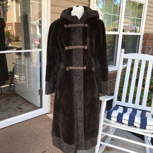 Gorgeous vintage faux fur long coat by Borgana
